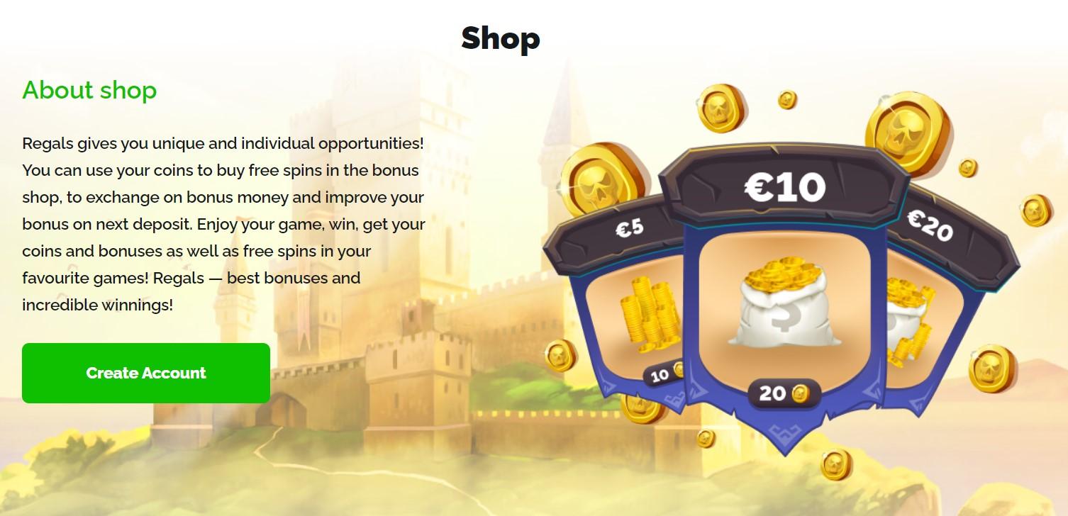 Regals Casino Bonus