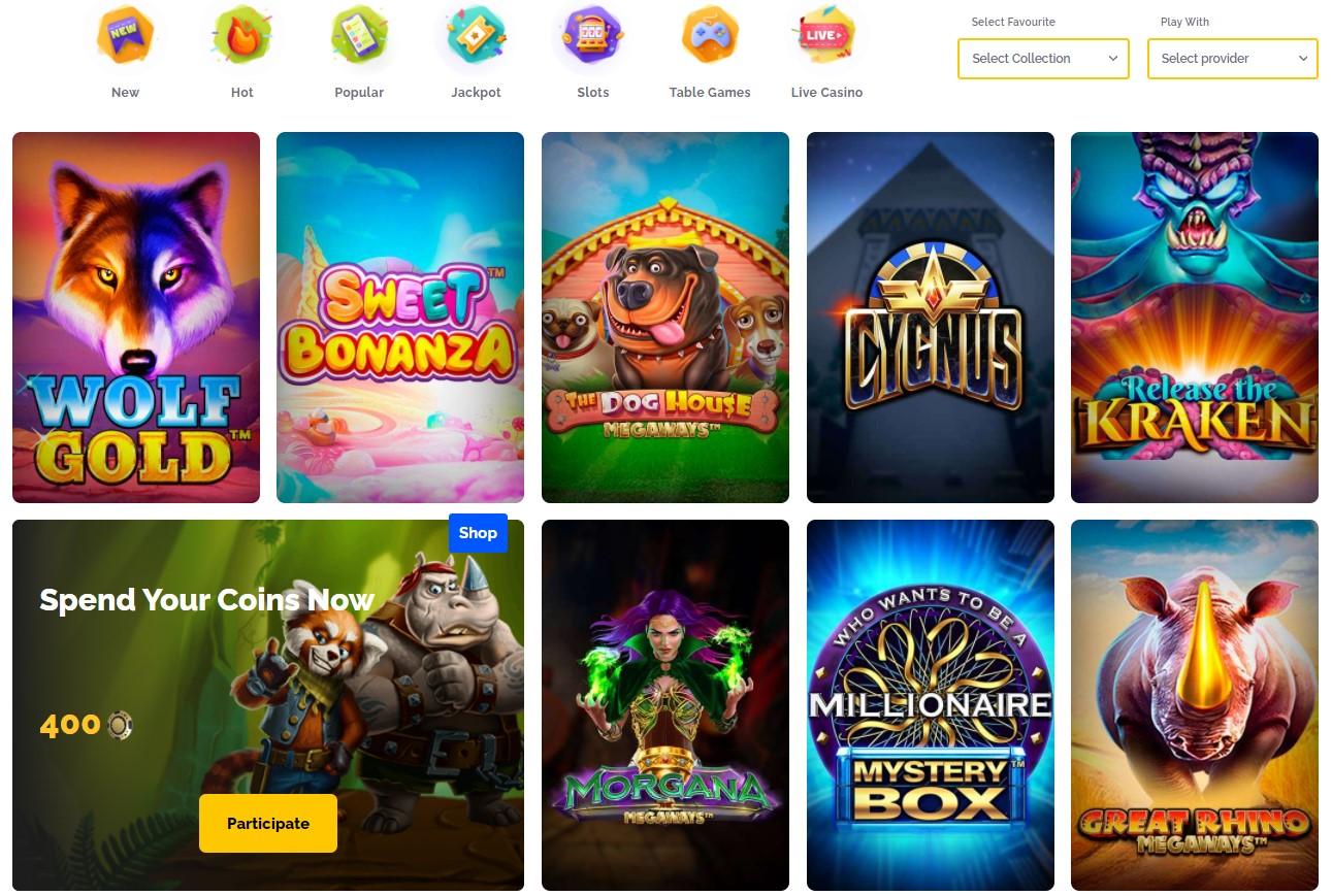 Regals Casino Games Presentation