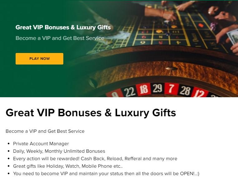 Tusk Casino VIP Promotion