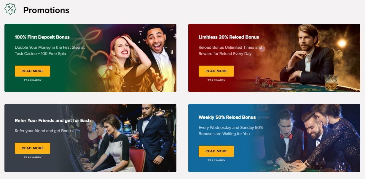 Tuck Online Casino Bonus Promotions