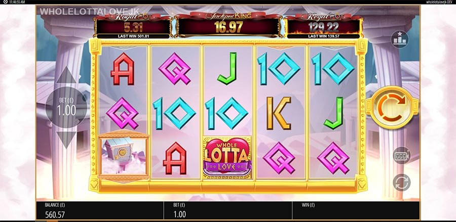 Blueprint Gaming Whole Lotta Love slot online upcoming new March