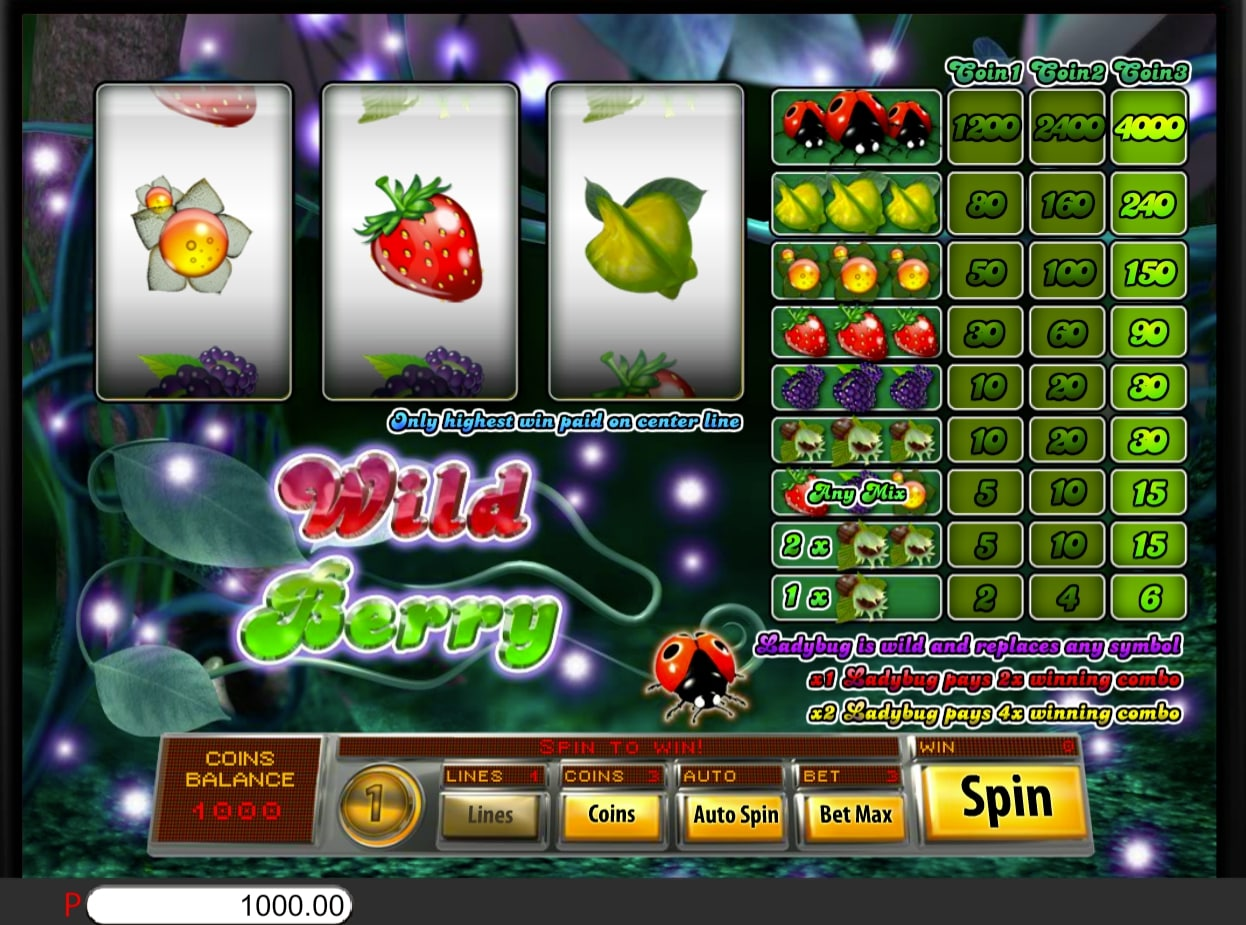 Saucify Wild Berry 3 Reels online slot game online casino fruit ladybug scatter