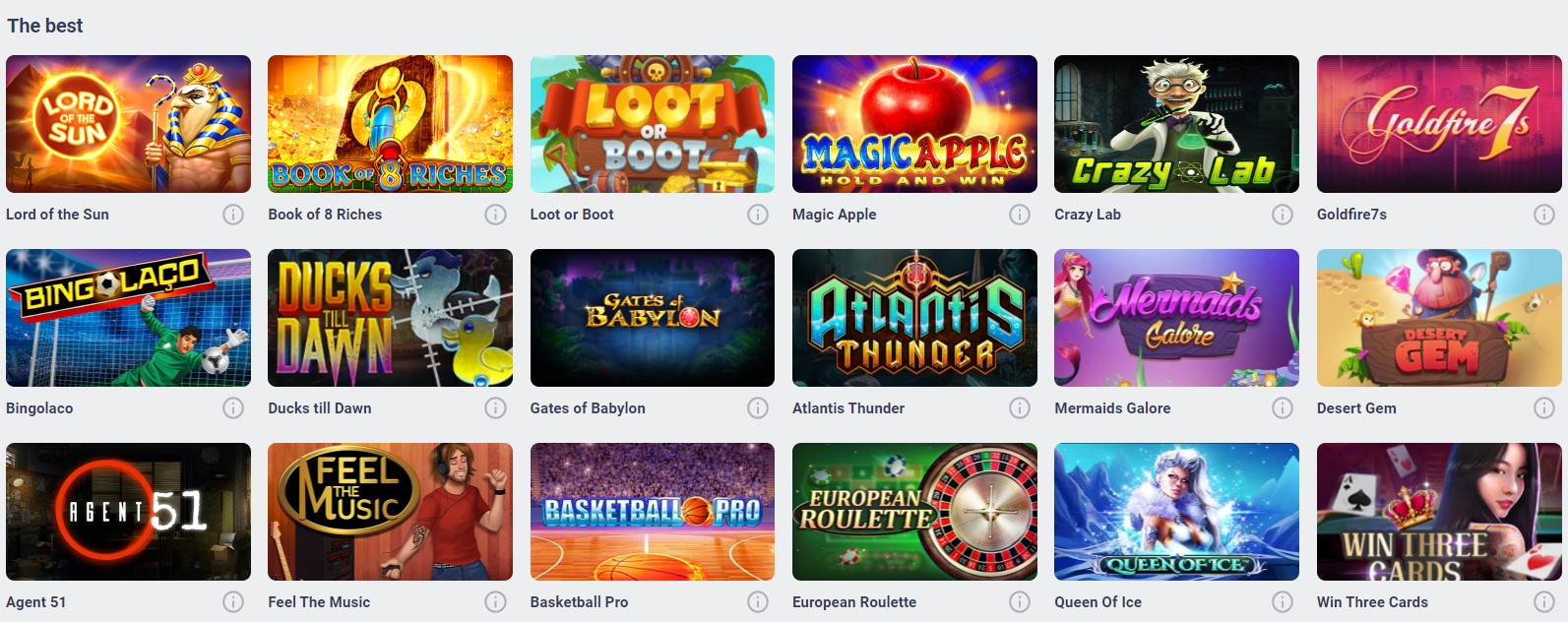 Cyber Bet Casino Games