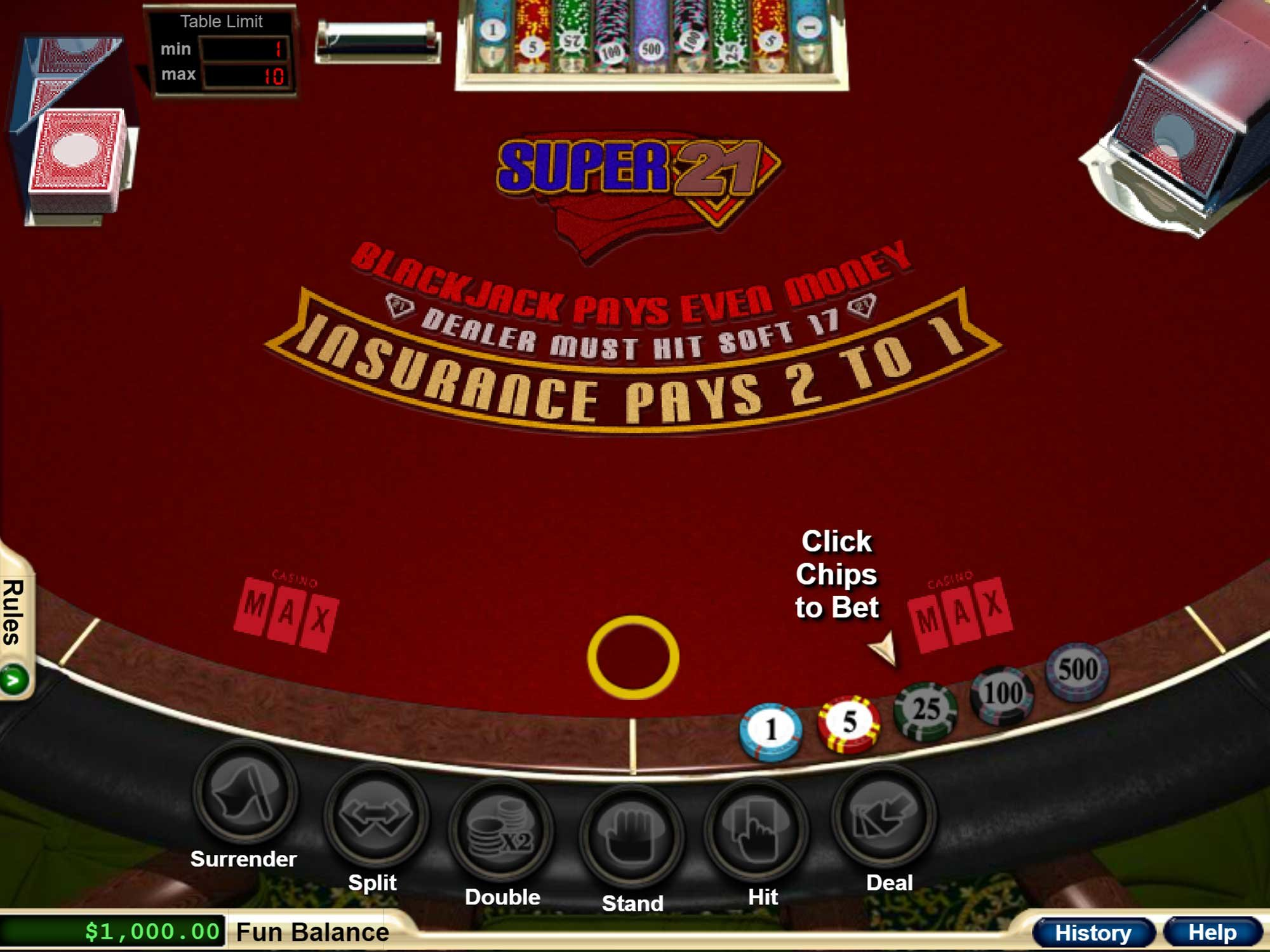 Advantages of double deck blackjack