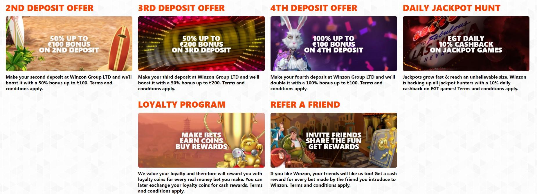 Winzon Casino Promotions