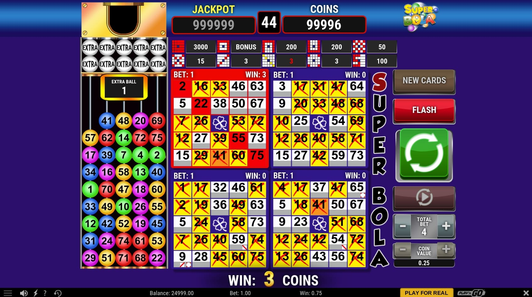 Play N Go Super Sola Bingo win online casino game gameplay main screen other games
