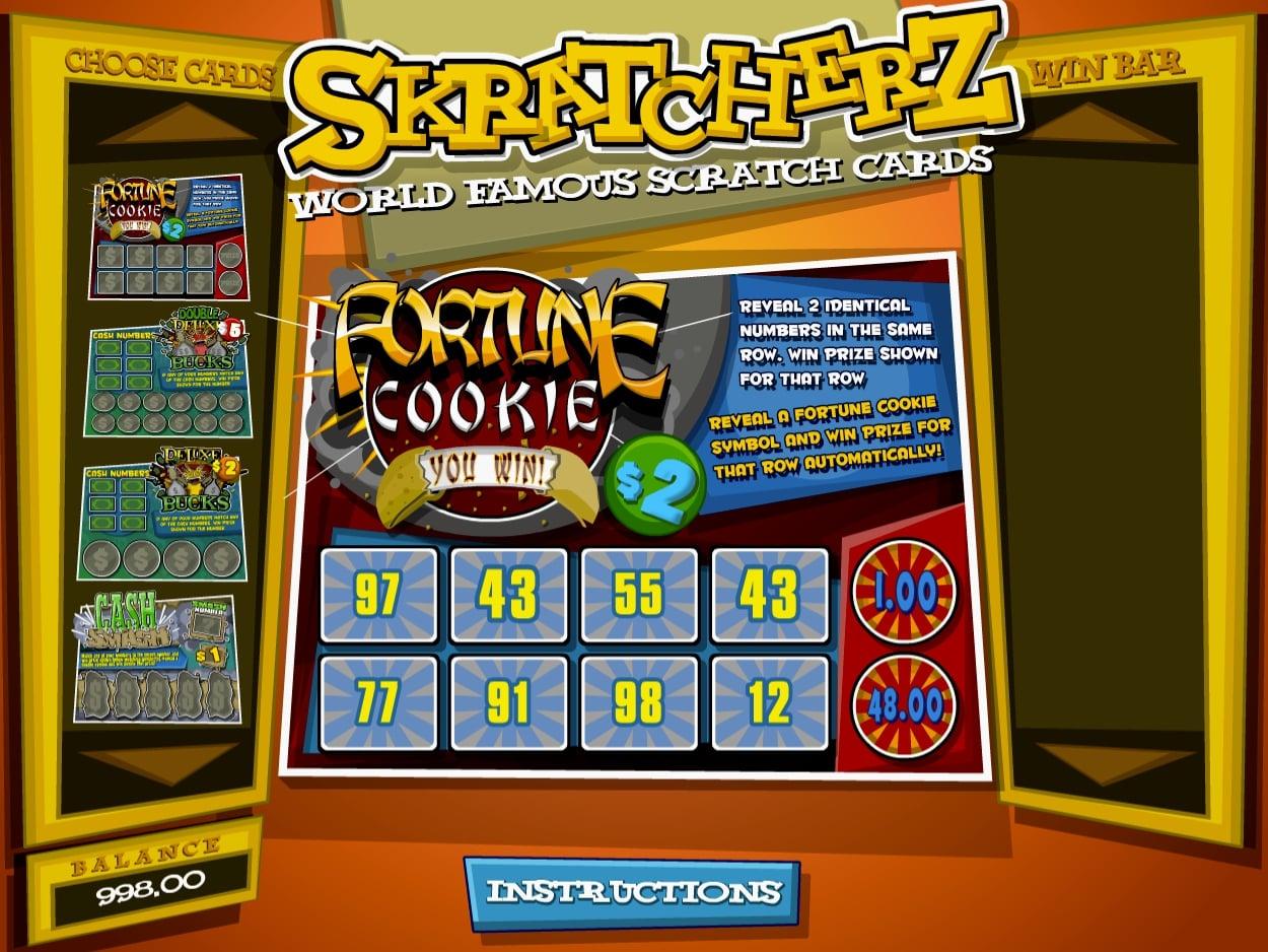 Instructionz scratch cards Betsoft Skratcherz online casino