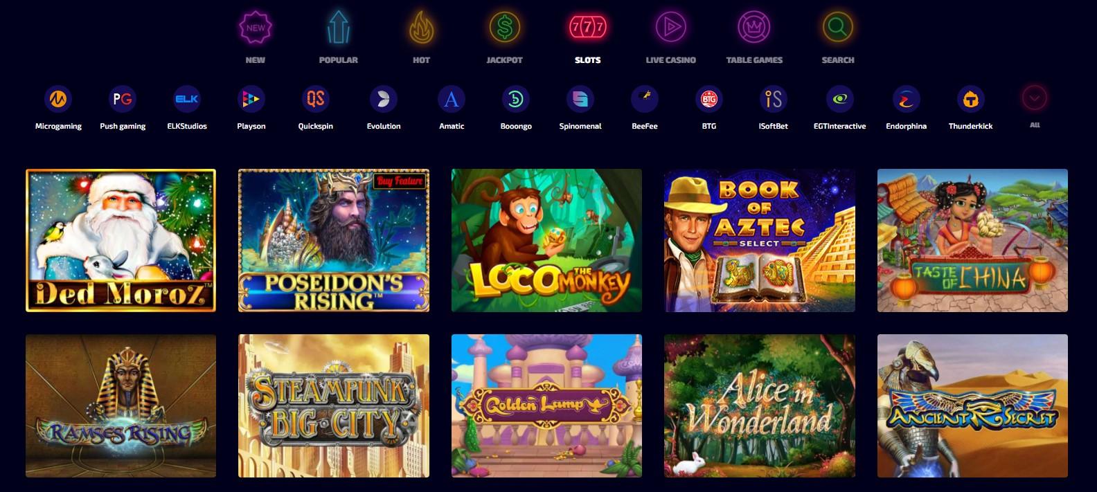Wild Tokyo Casino Games