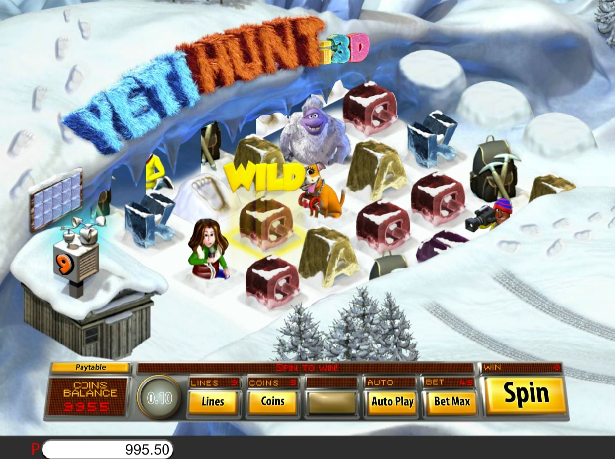 Saucify Yeti Hunt 3D slot online casino game flash
